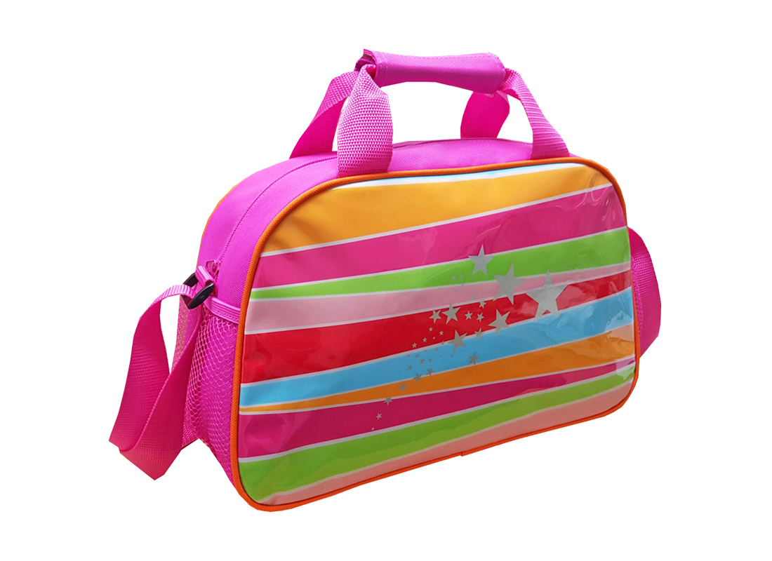 Girl Shoulder bag with rainbow print at front L side
