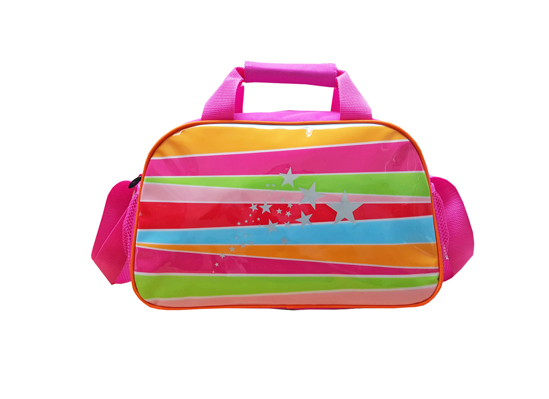 Girl shoulder bag with rainbow print at the front