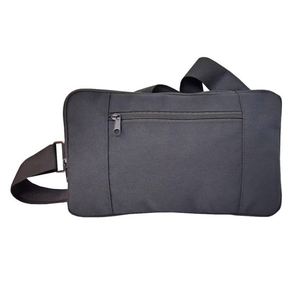 Rectangle shape men waist bag in grey