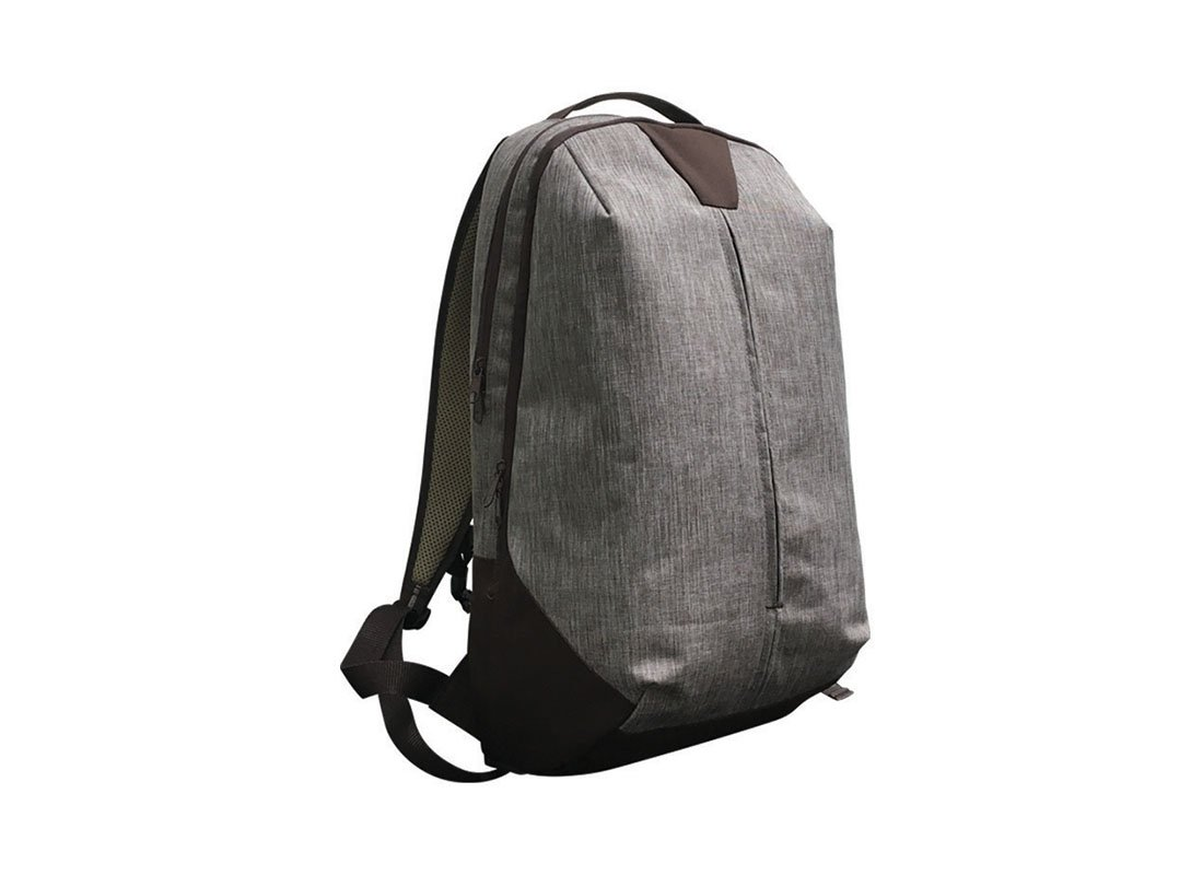 Backpack for work in brown L side