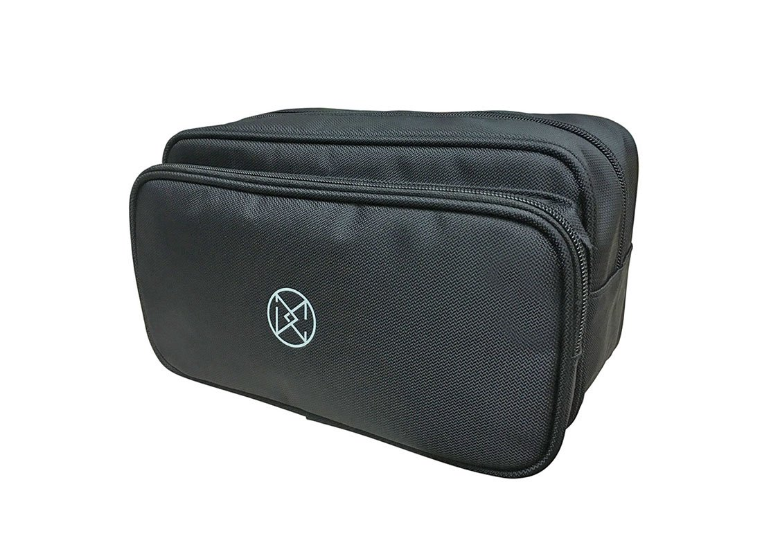 Large Two compartment Men Toiletry in black R side