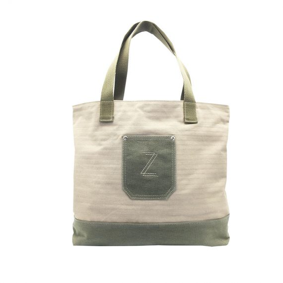 100% Cotton Tote with small front pocket