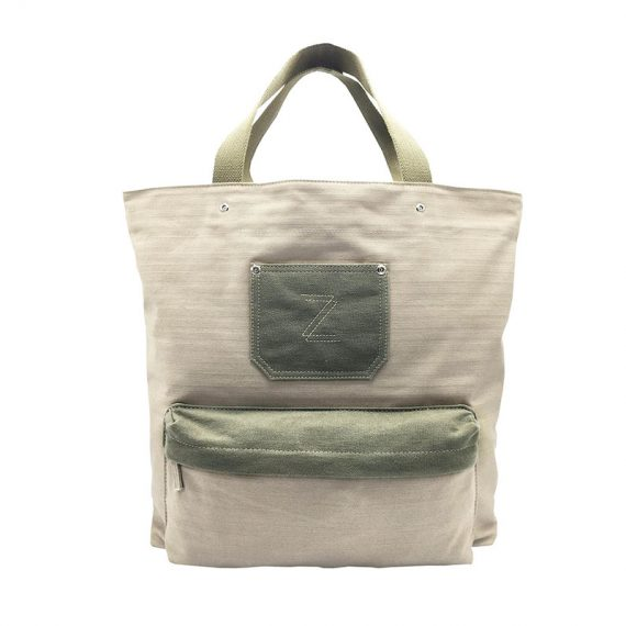 100% Cotton Tote Bag with front pocket