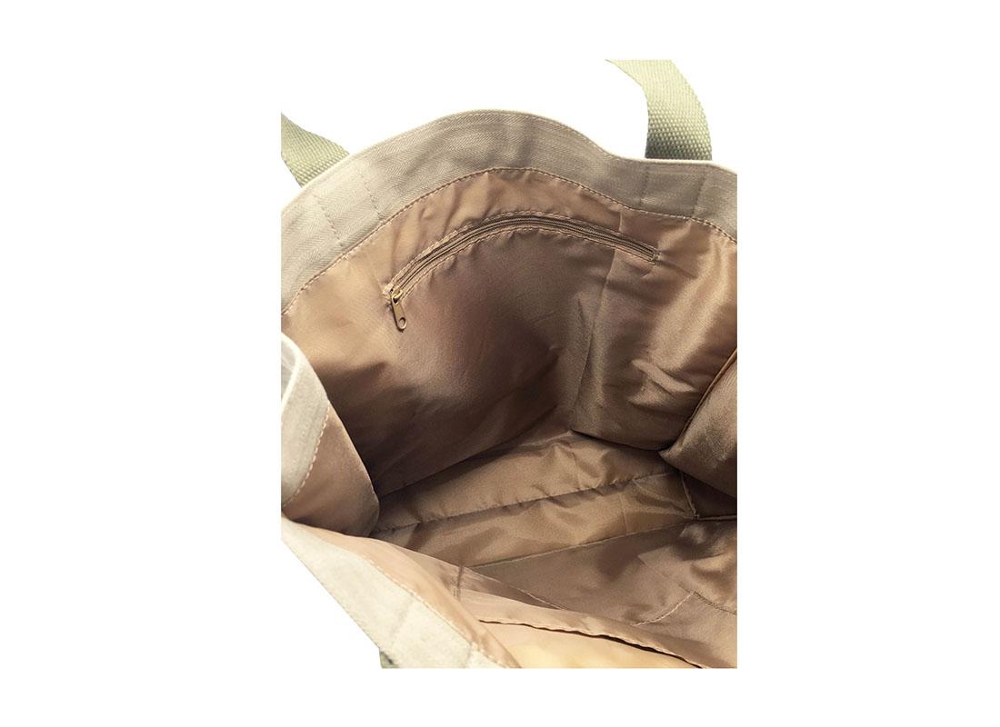 Interior of 100% Cotton Tote Bag