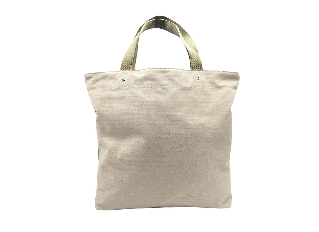 100% Cotton Tote with front pocket back