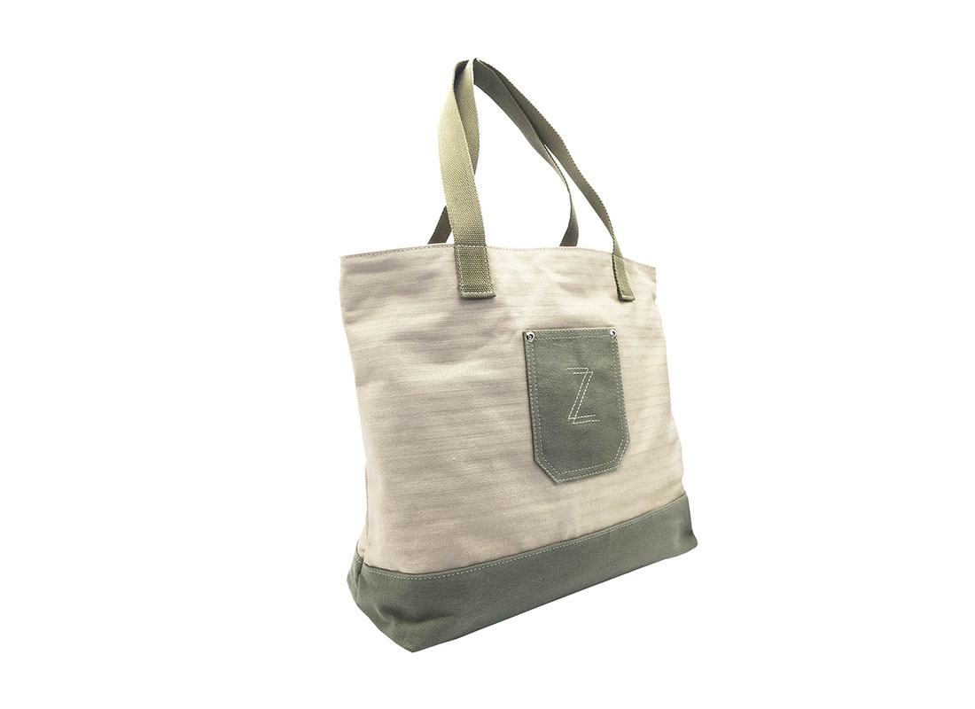 100% Cotton Tote with small pocket side