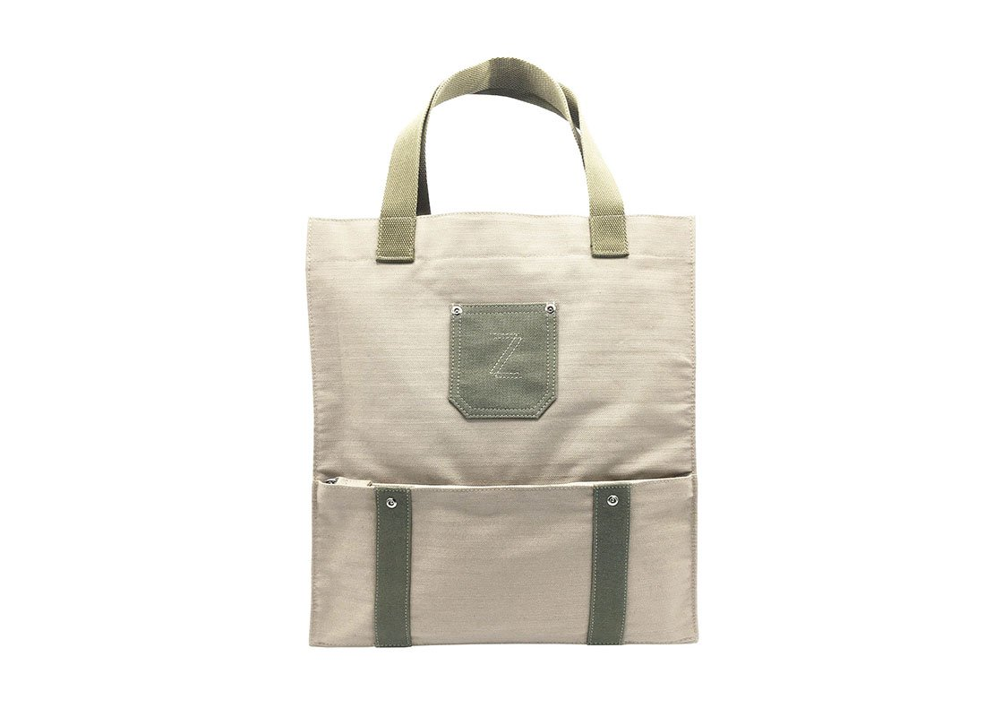 100% Cotton Tote with Front zipper pocket