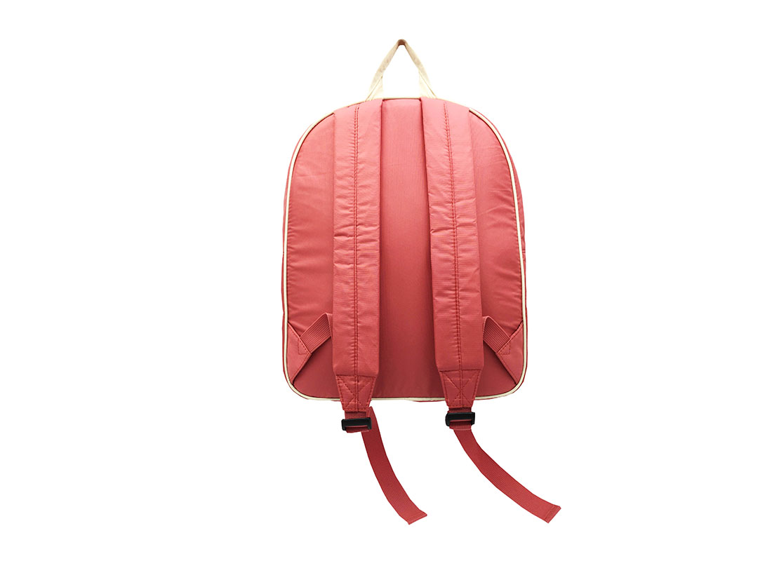 Girl Backpack in pink & beige back