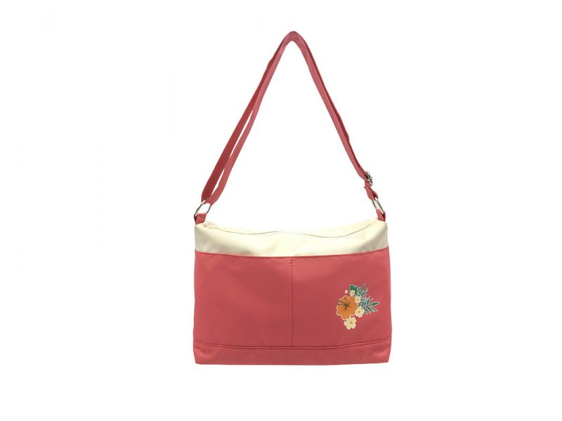 Shoulder Bag with a Hawaii flower print