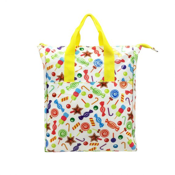 Mini backpack with candy printing