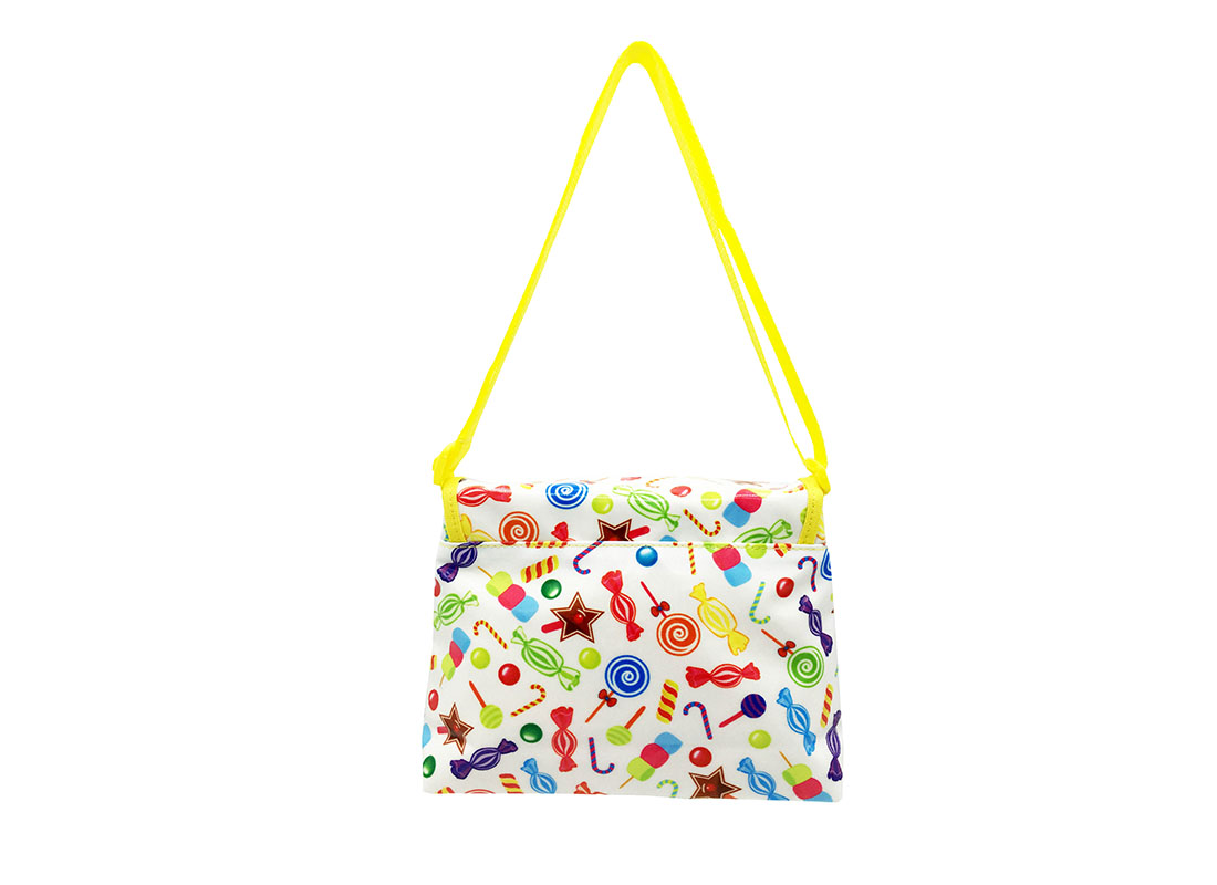 Mini Shoulder Bag with candy printing Back