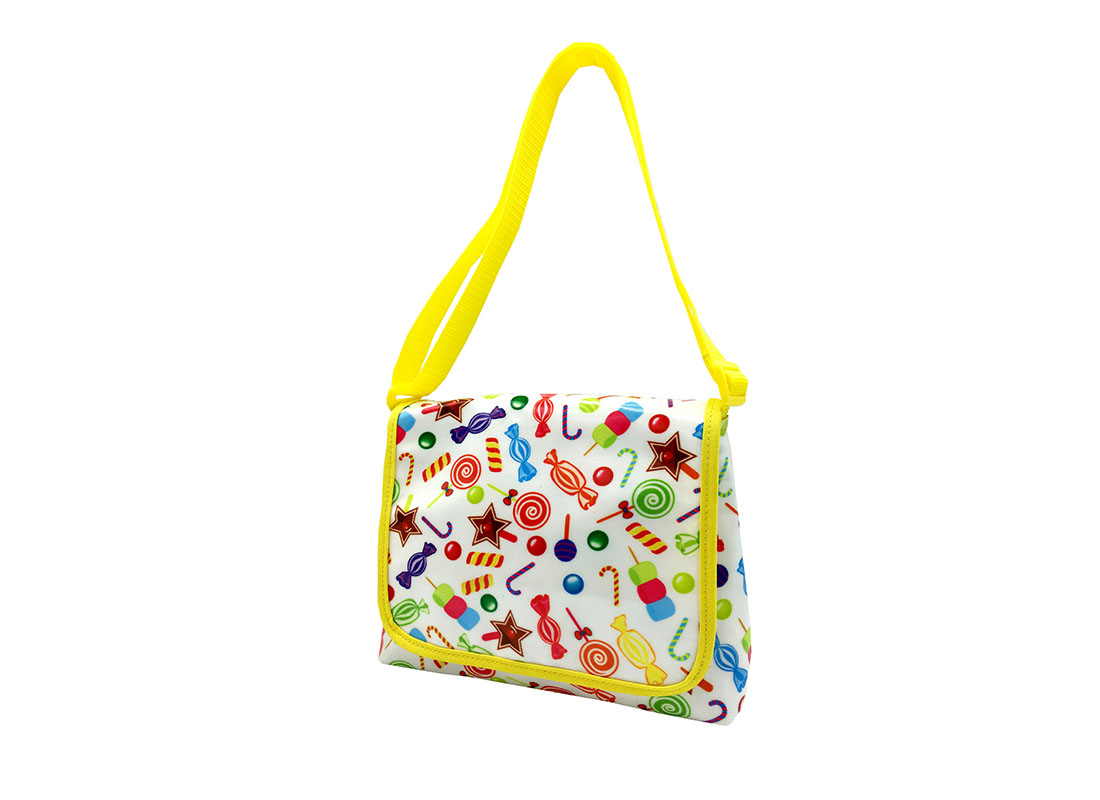 Mini Shoulder Bag with Candy Printing R side