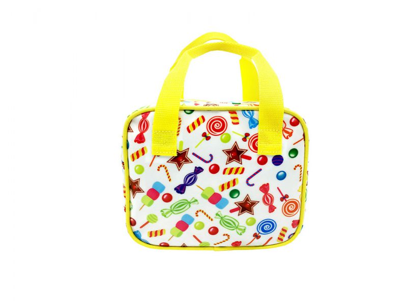 Mini Square Shaped Bag with Candy printing
