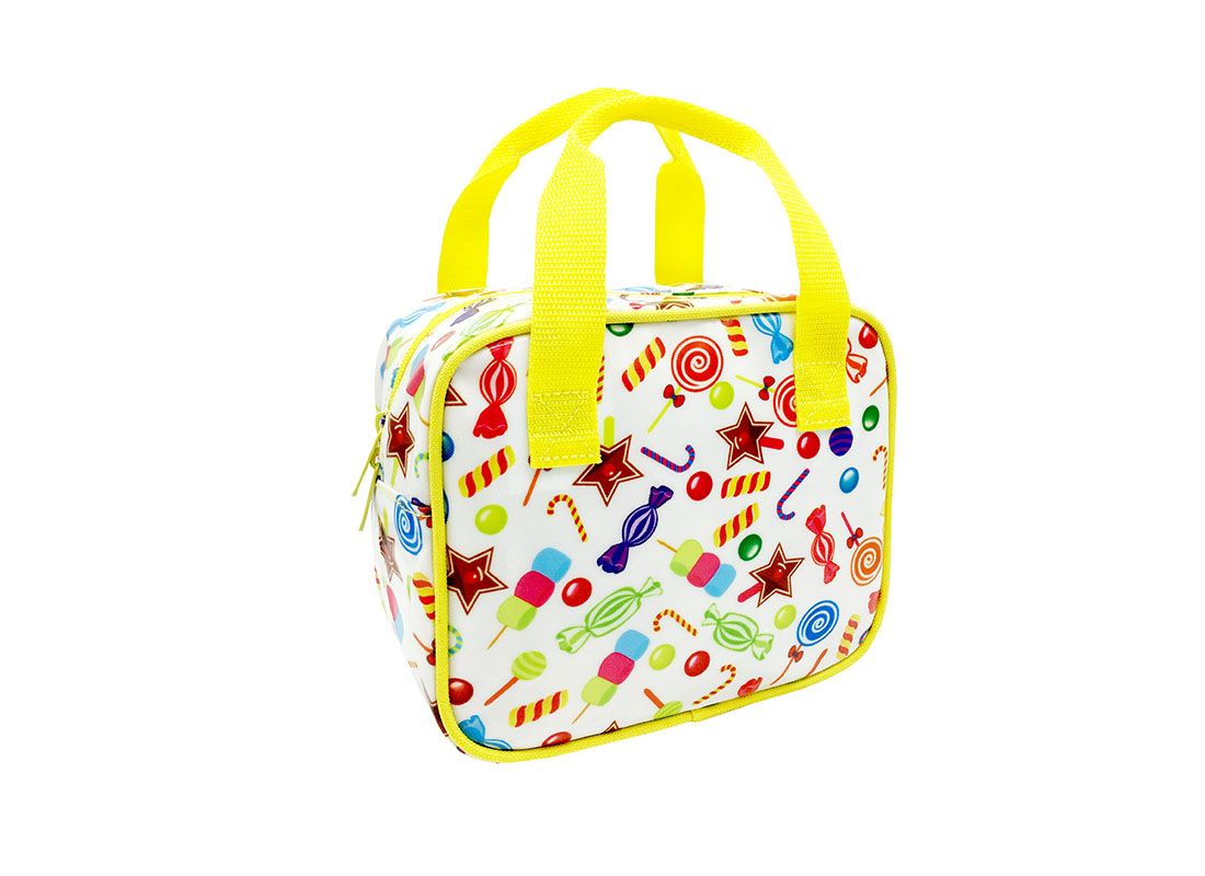 Square Shaped bag with Candy Printing L side