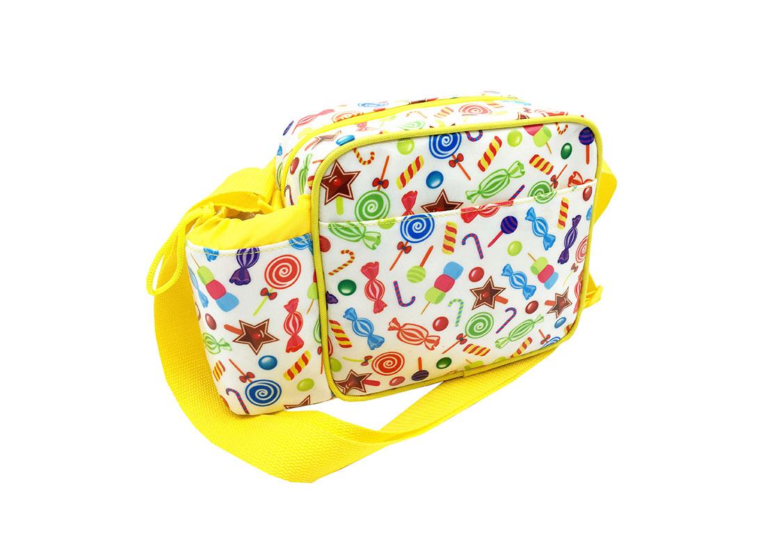 Mini Shoulder Bag with small water bottle holder L side