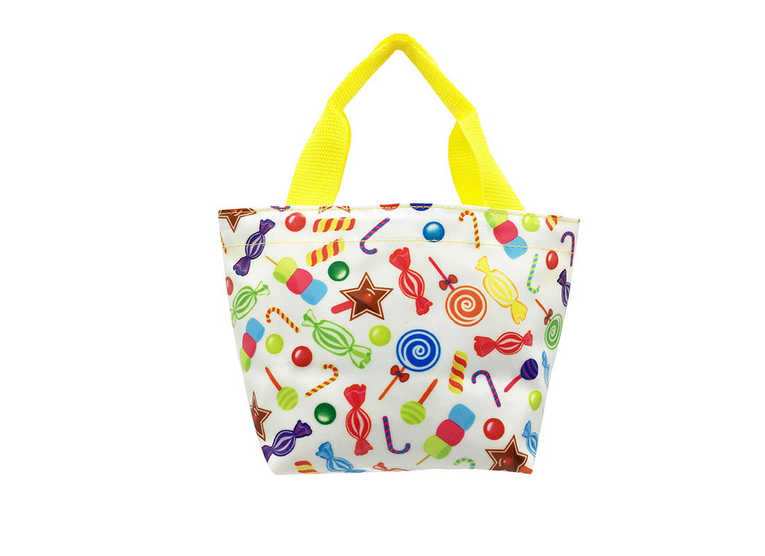 Mini Tote with candy pattern