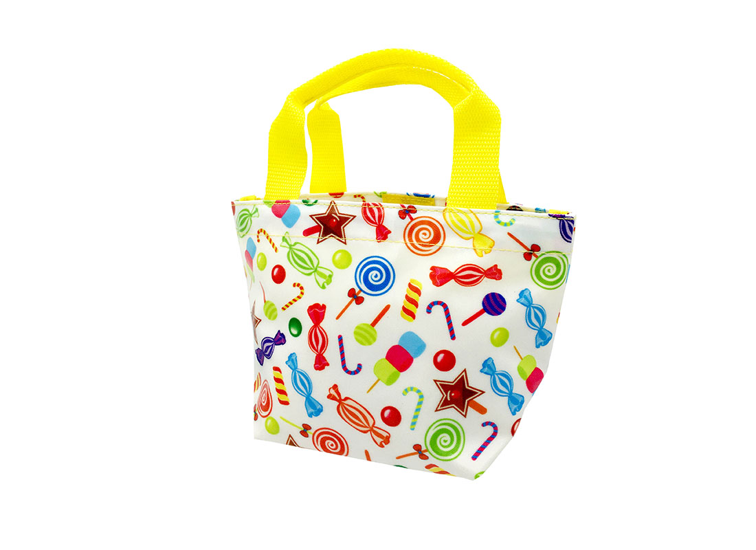 Mini Tote with Candy patter R side