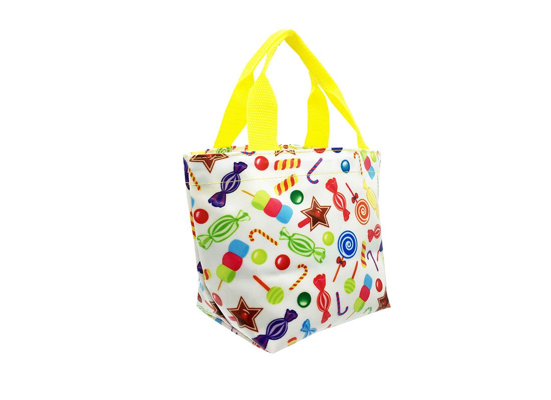 Mini Tote with Candy pattern L side