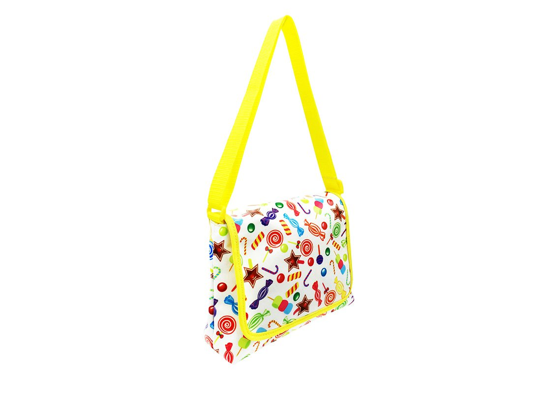 Mini Shoulder Bag with Candy printing L side