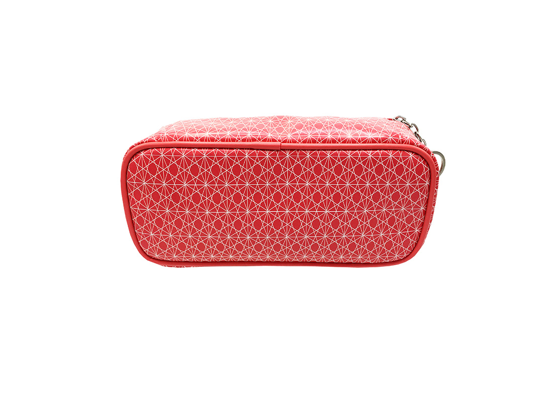 rectangle cosmetic bag with monogram printing back