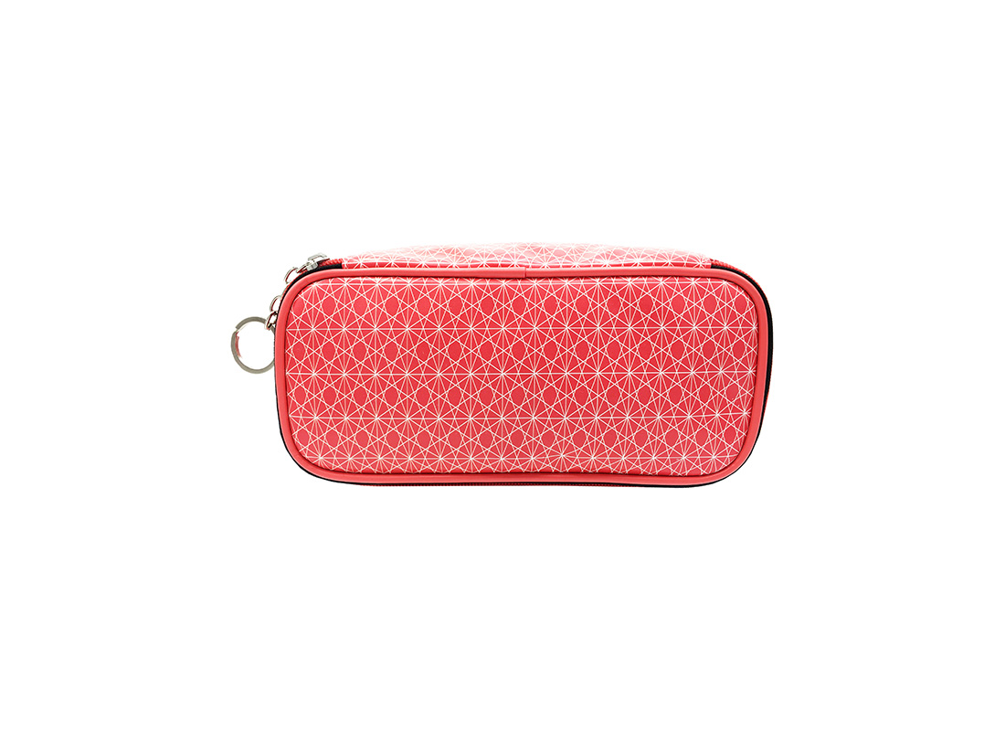 Rectangle shape cosmetic bag with monogram printing