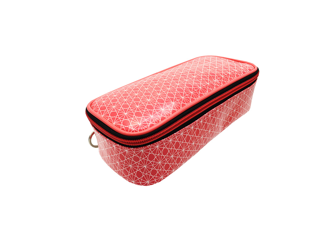 rectangle cosmetic bag with monogram printing side1