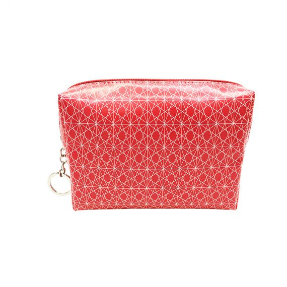 cosmetic bag in pink with monogram printing