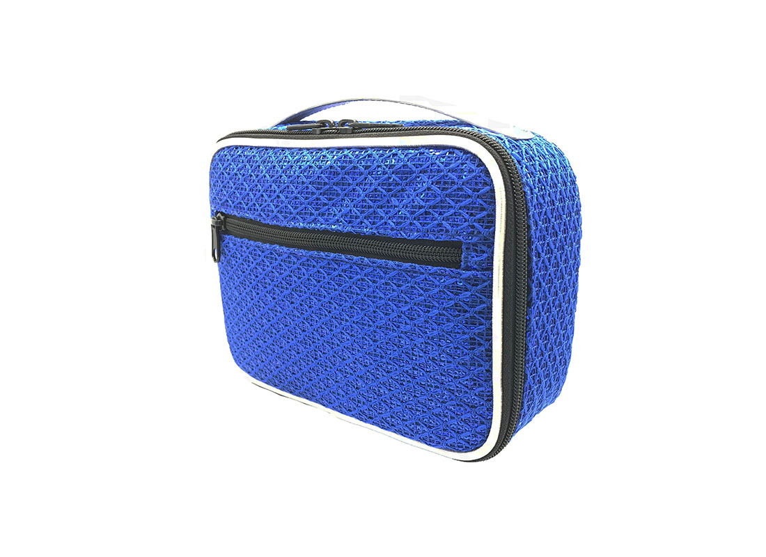 Sequin Pouch in Blue R side