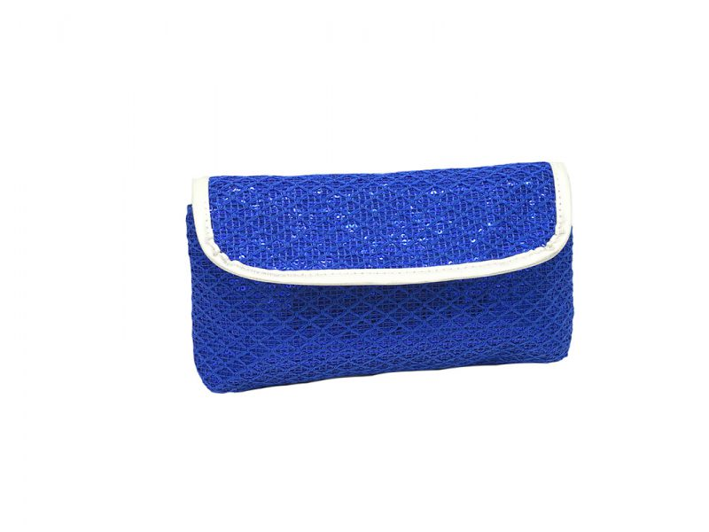 Sequin cosmetic bag for eyelash pencil
