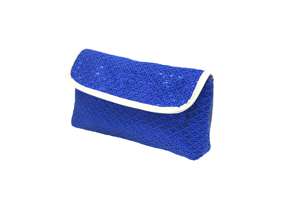 Sequin cosmetic bag for eyelash pencil R side