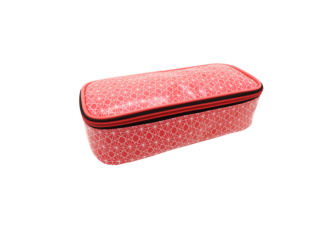 rectangle shape cosmetic bag with monogram printing side