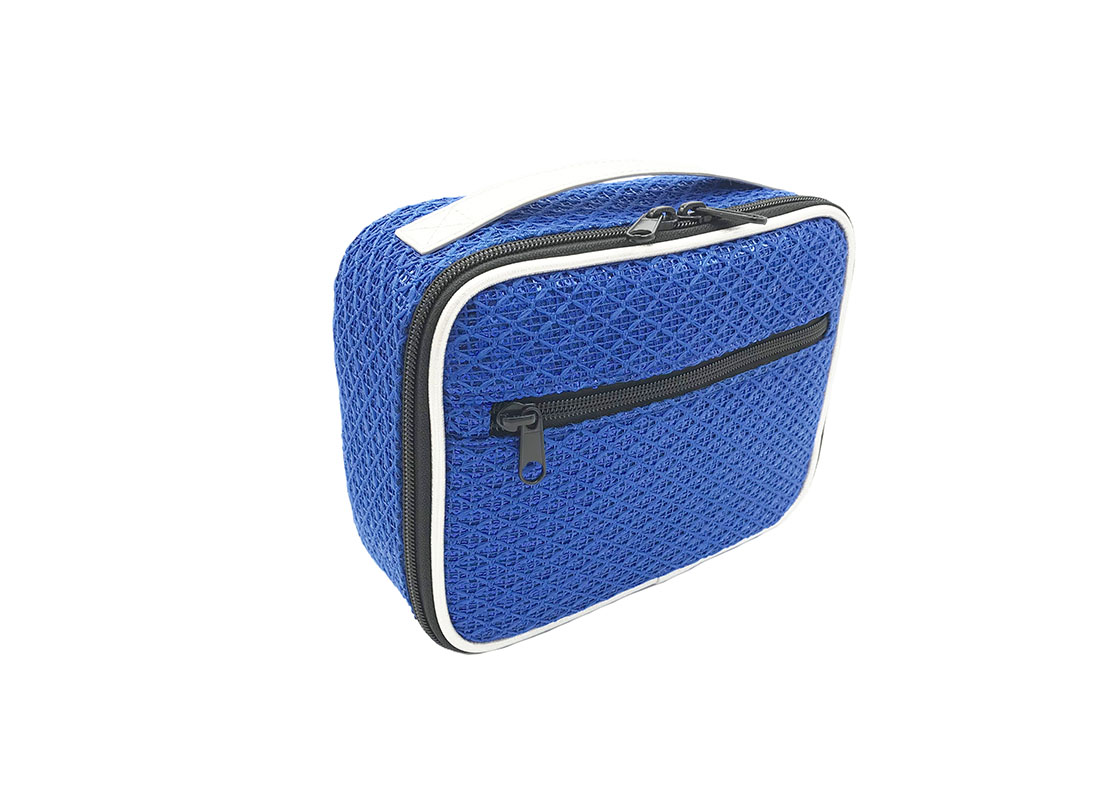 Sequin Pouch in Blue L side