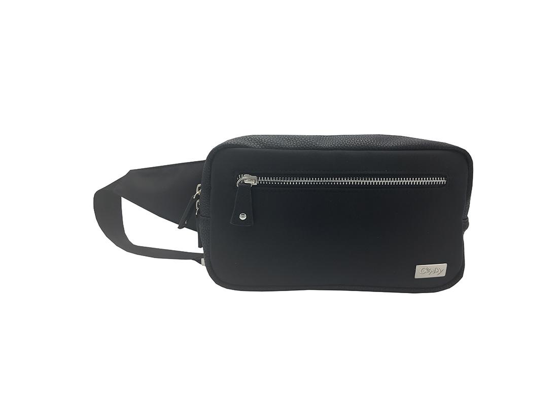 rectangle women waist bag in black