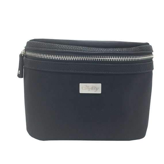 Women waist bag Large in black color
