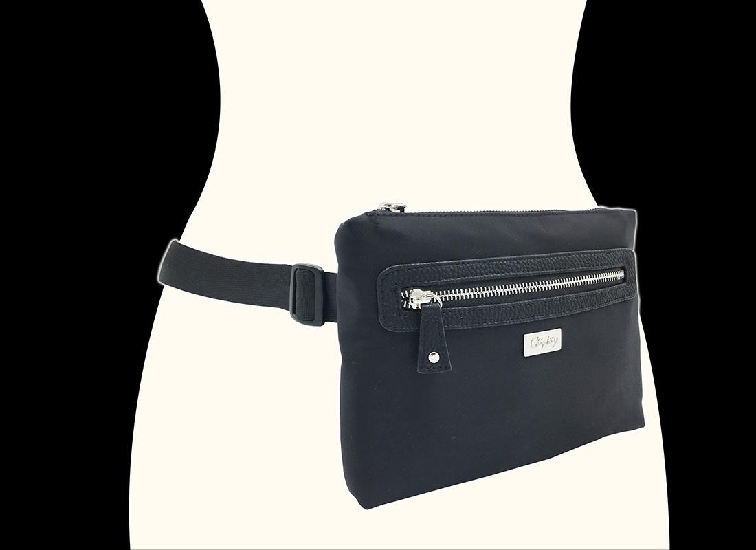 women waist bag model