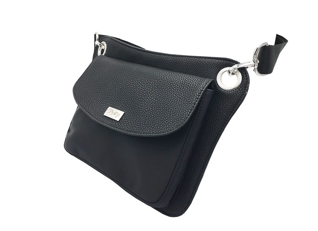 Women Waist Bag in Black Side