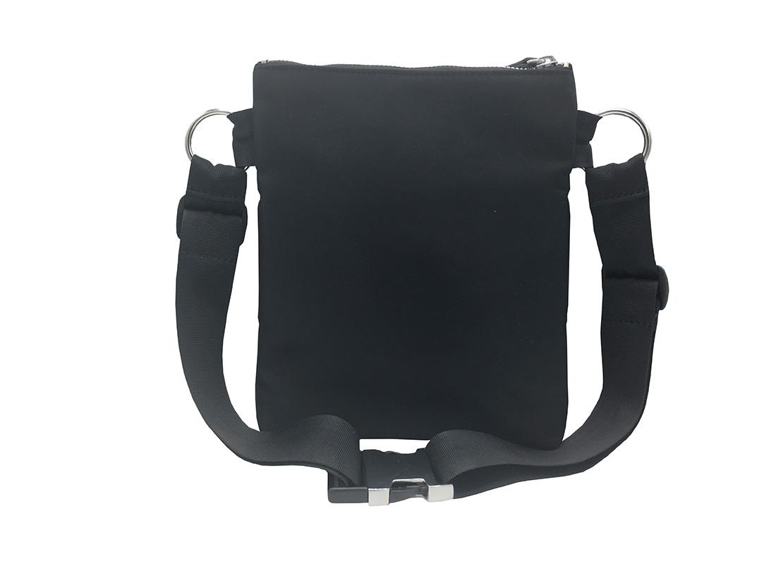 Large Waist Bag in Black for Women Back