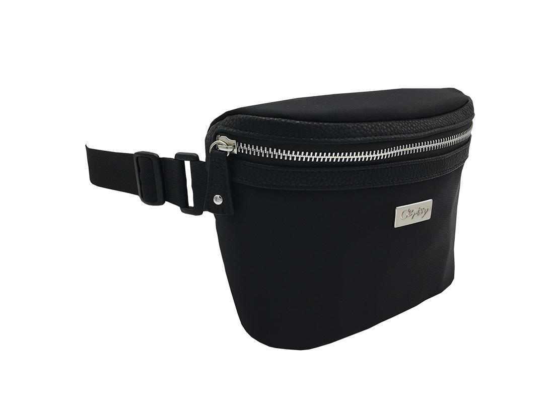 Women Large Waist Bag in Black side