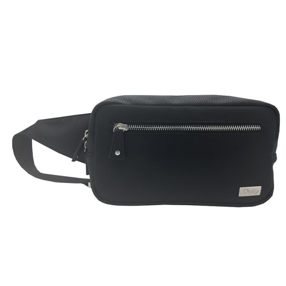 rectangle women waist bag in black