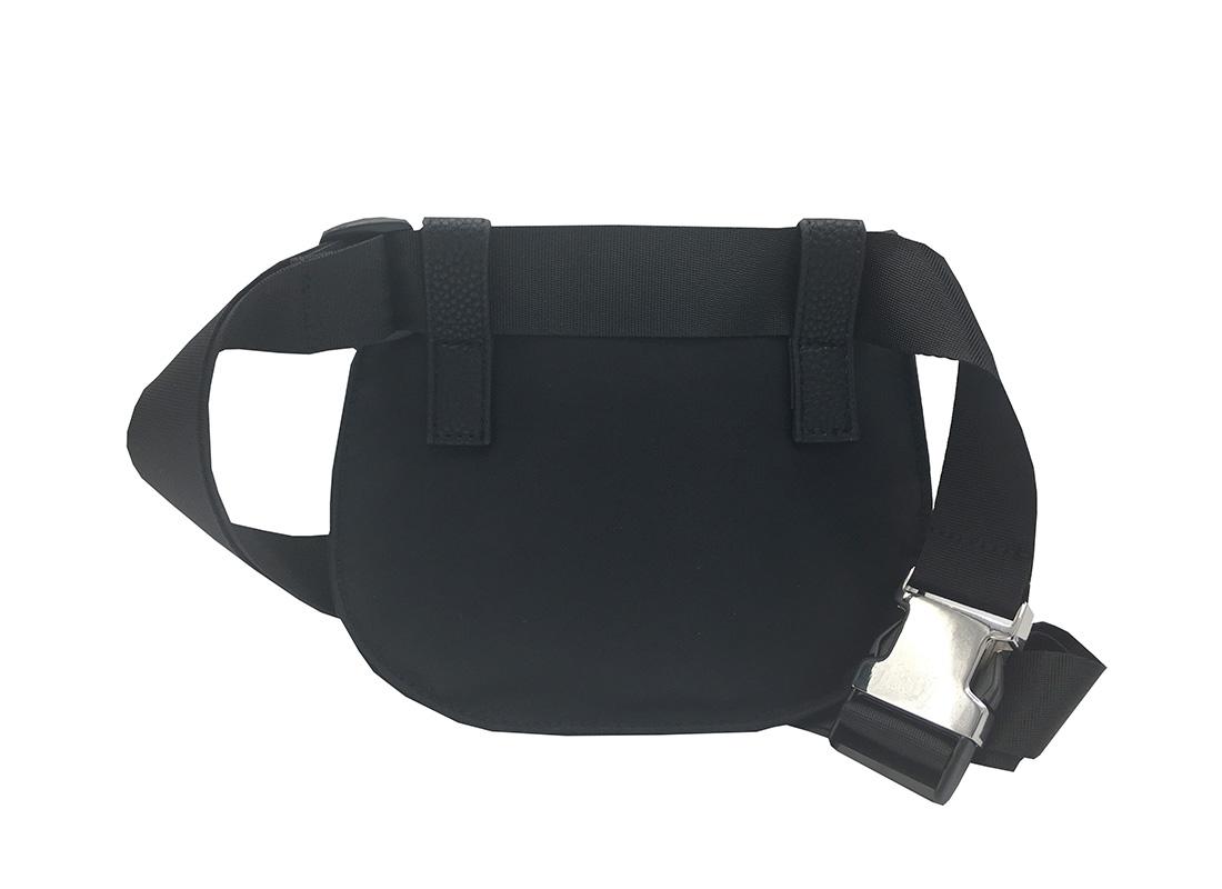 women elegant waist bag in black back