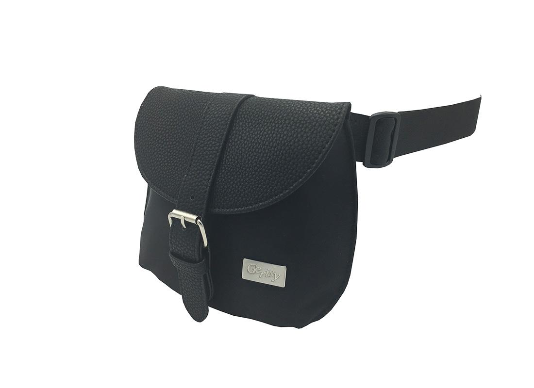 Women Elegant Waist Bag in Black side