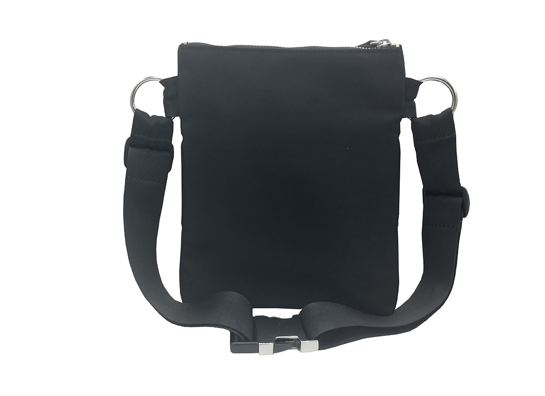 Large Waist Bag in Black for Women Back