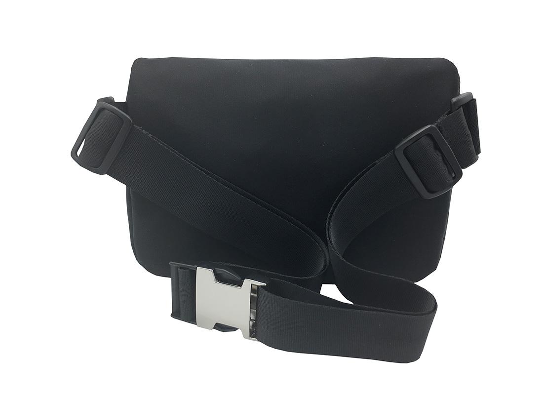 Women Large Waist Bag in Black Back
