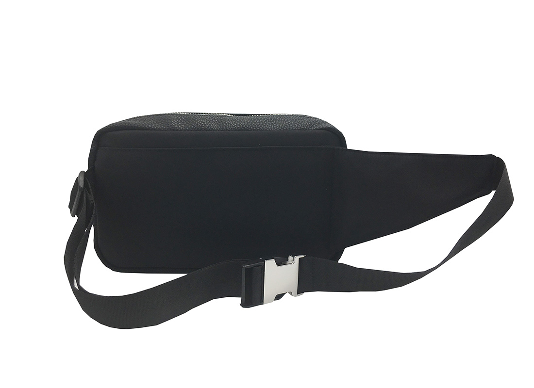 rectangle women waist bag in black back