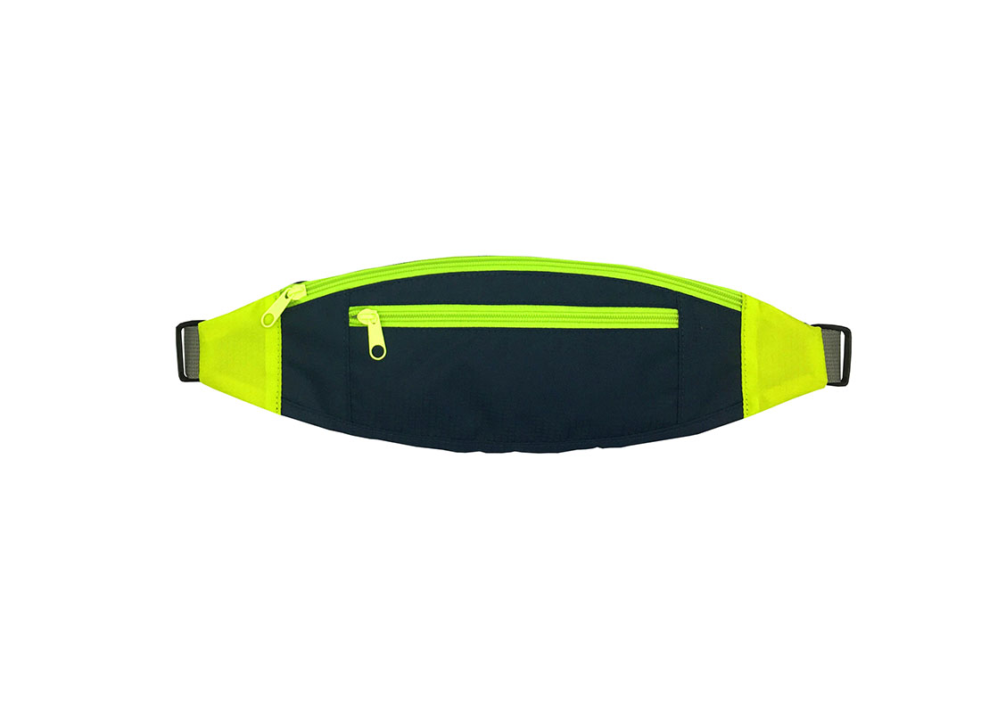 small sporty waist bag in neon green