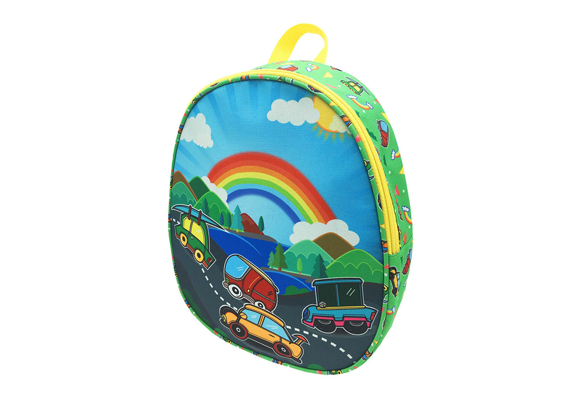 children backpack with car printing R side