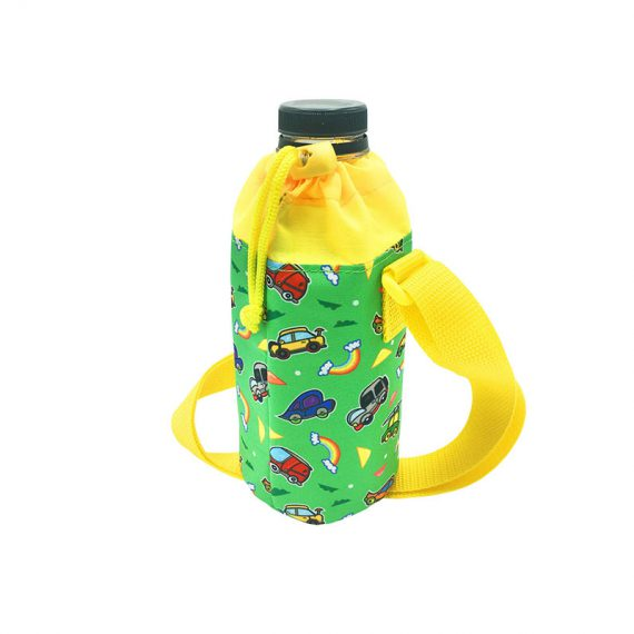 Children water bottle holder with car printing