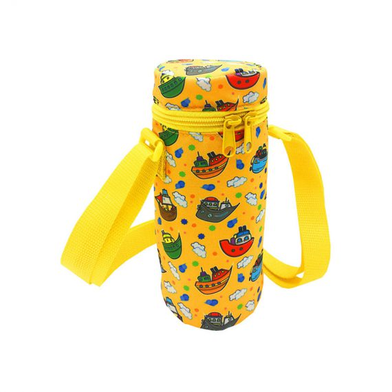 Children water bottle holder with ship print