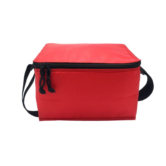 6 cans cooler bag in red