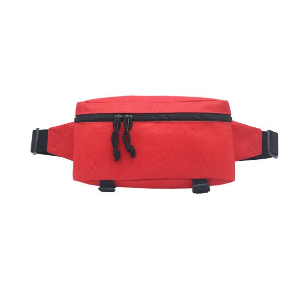 Sporty waist bag in red